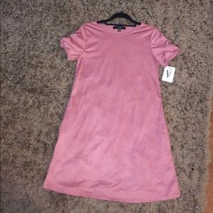 NWT Pink Suede T-Shirt Dress - Size M